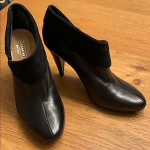 New COACH black booties size 7